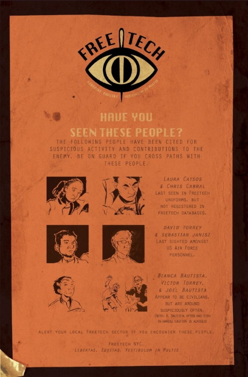 Donor page designed as an in-world wanted poster