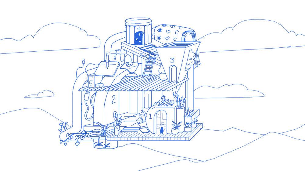 Client: ilovecreatives - concept sketch for Squarespace Design Course