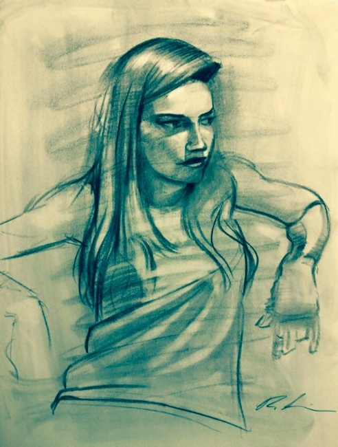 Charcoal on paper, 2013