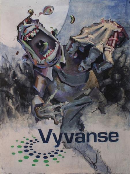 """Vyvance Zombies""    2018,Mixed Media on panel"