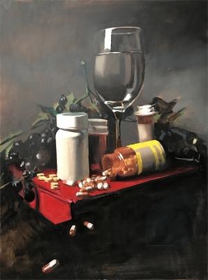 """cornucopia"",   2018, Oil on canvas"