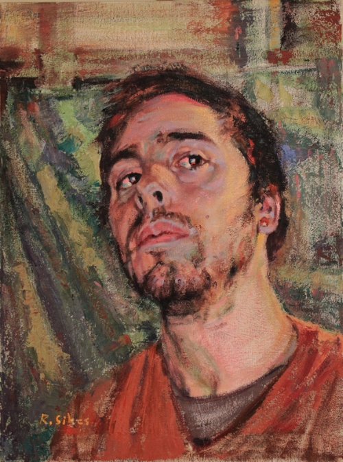 """johnny"",   oil on canvas, 2016"