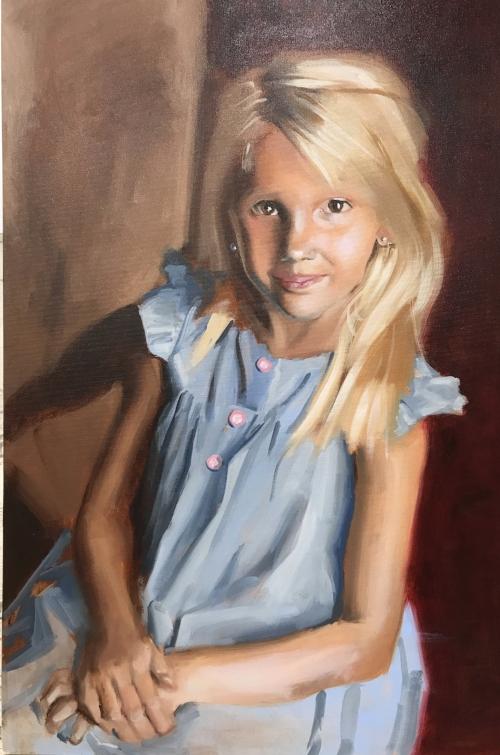 """Mrs. Mary"",  2017, oil on canvas"