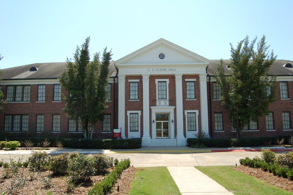 One of the buildings on the campus of Nicholls State University in Thibodeaux, Louisiana