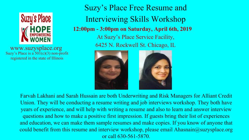 Farvah Lakhani  and Sarah Hussain Resume Writing 4_06_2019.png