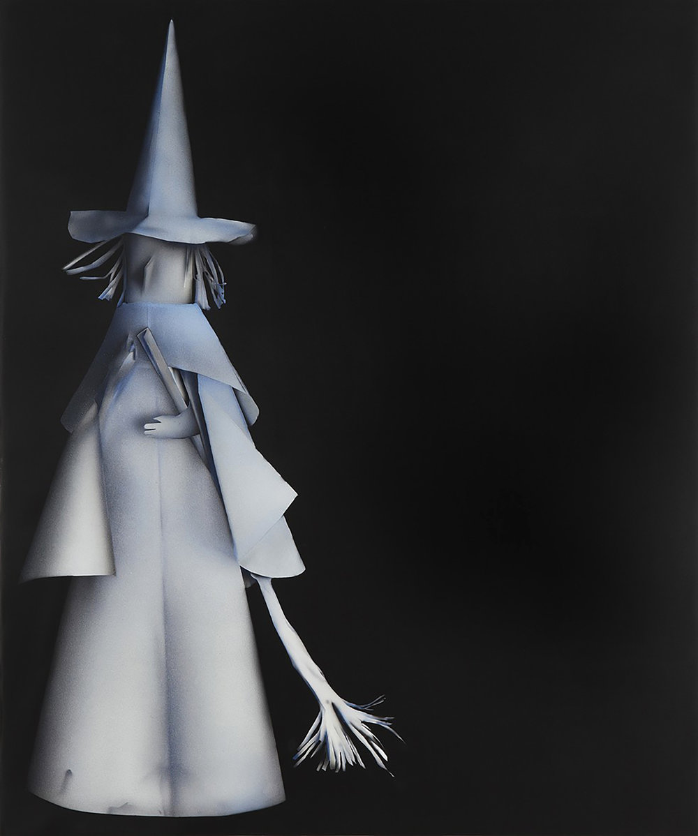 "Kara Joslyn, ""Up the Coven! (witch)"", 2016. 72 in. x 60 in. Acrylic & polymer car paint on panel. (courtesy: Alex Kershaw)"