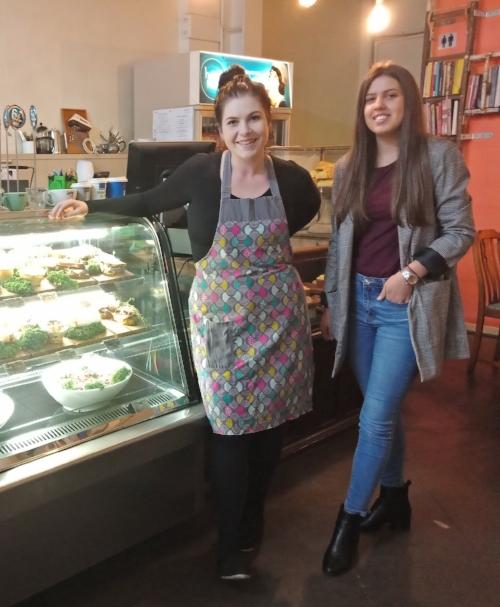 Business owner of Hazel Hayes Rebecca with Andela Nikolic (learner).