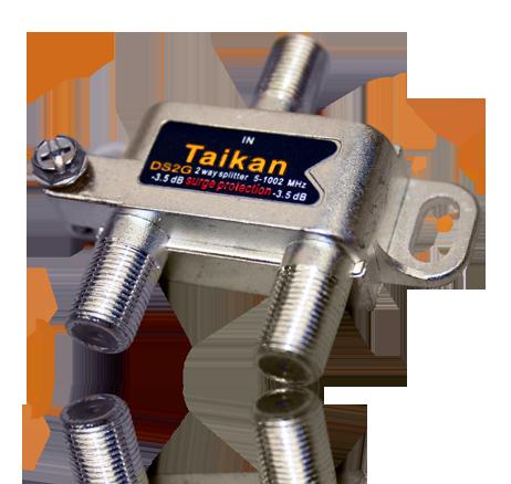 horizontal drop splitter 1002 1218 Mhz IEEE broadband cable premise Taikan SCTE