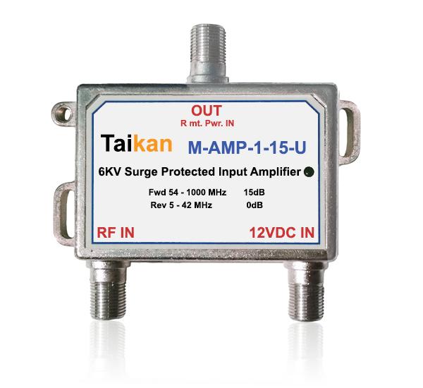 M-AMP-15  passive drop amplifier broadband cable premise taikan scte