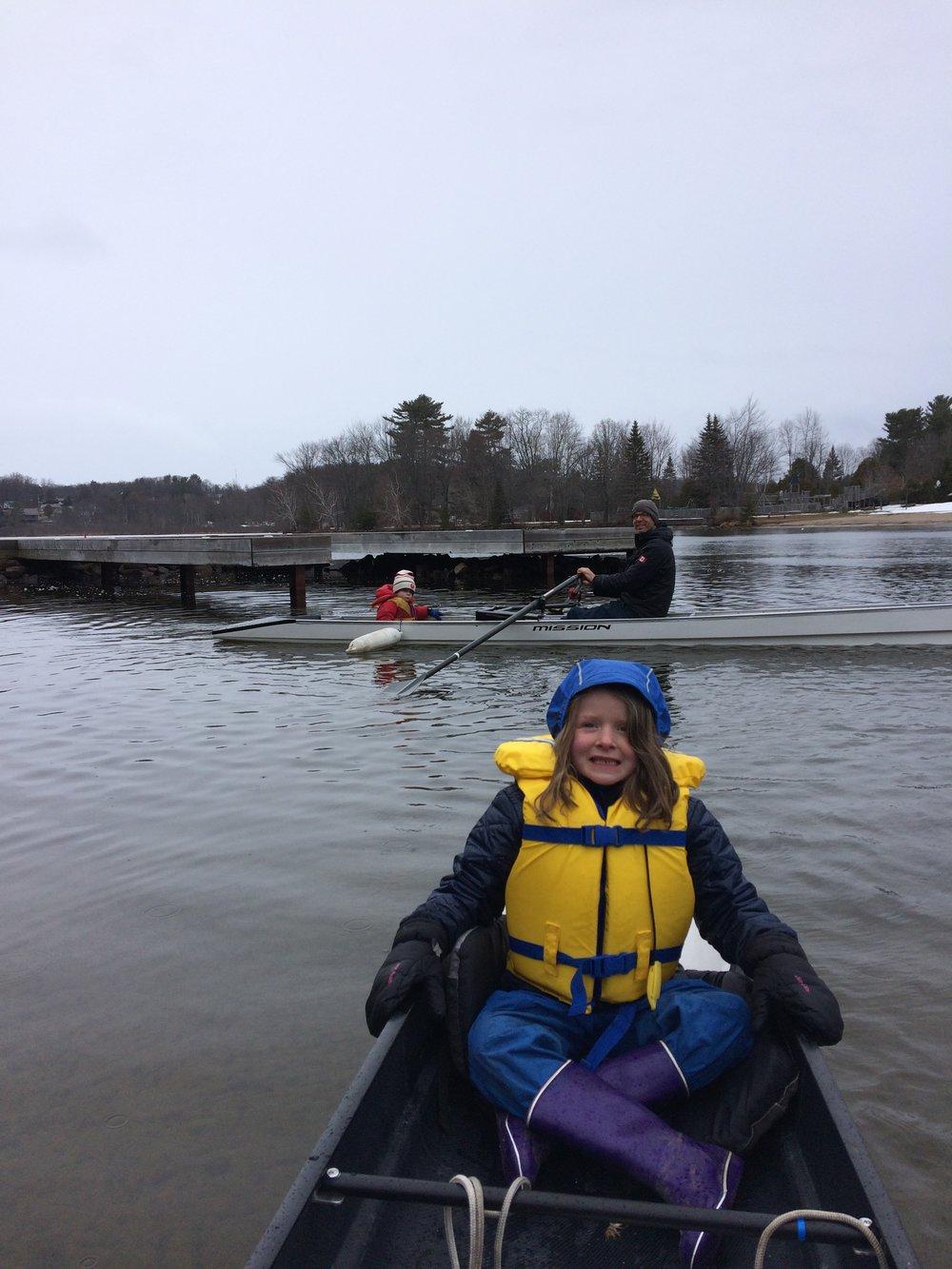 Spring Rowing in Muskoka