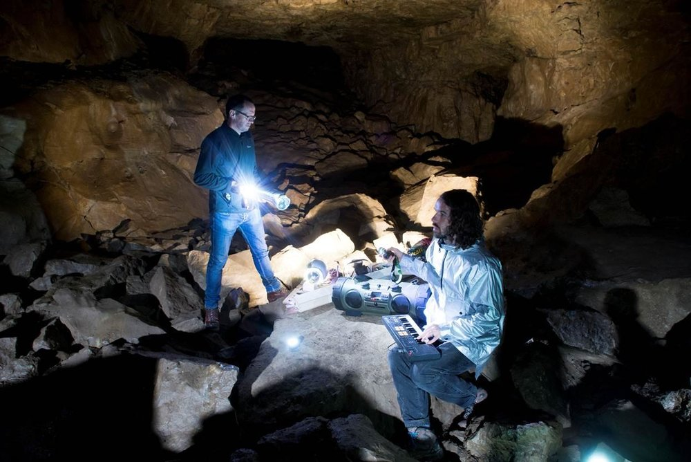 Noctule - A site-specific live performance taking place underground in Eglwys Faen,a cave on the Llangattock Escarpment, Commissioned by Peak.