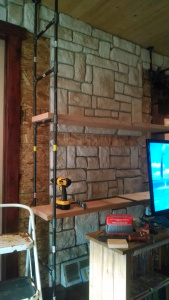 Pipe shelf - trial with shelf