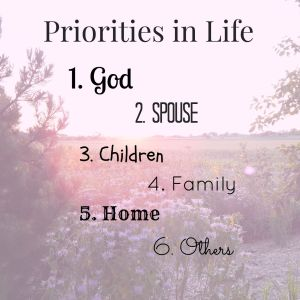 Priorities in Life
