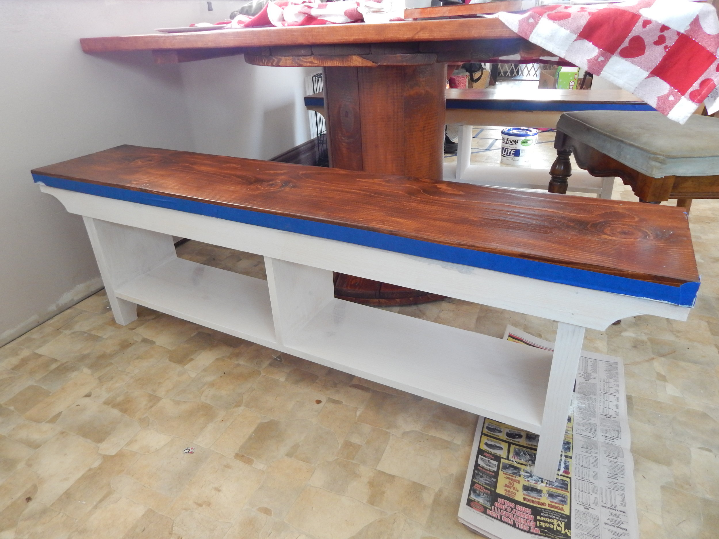 DIY Bench with primer