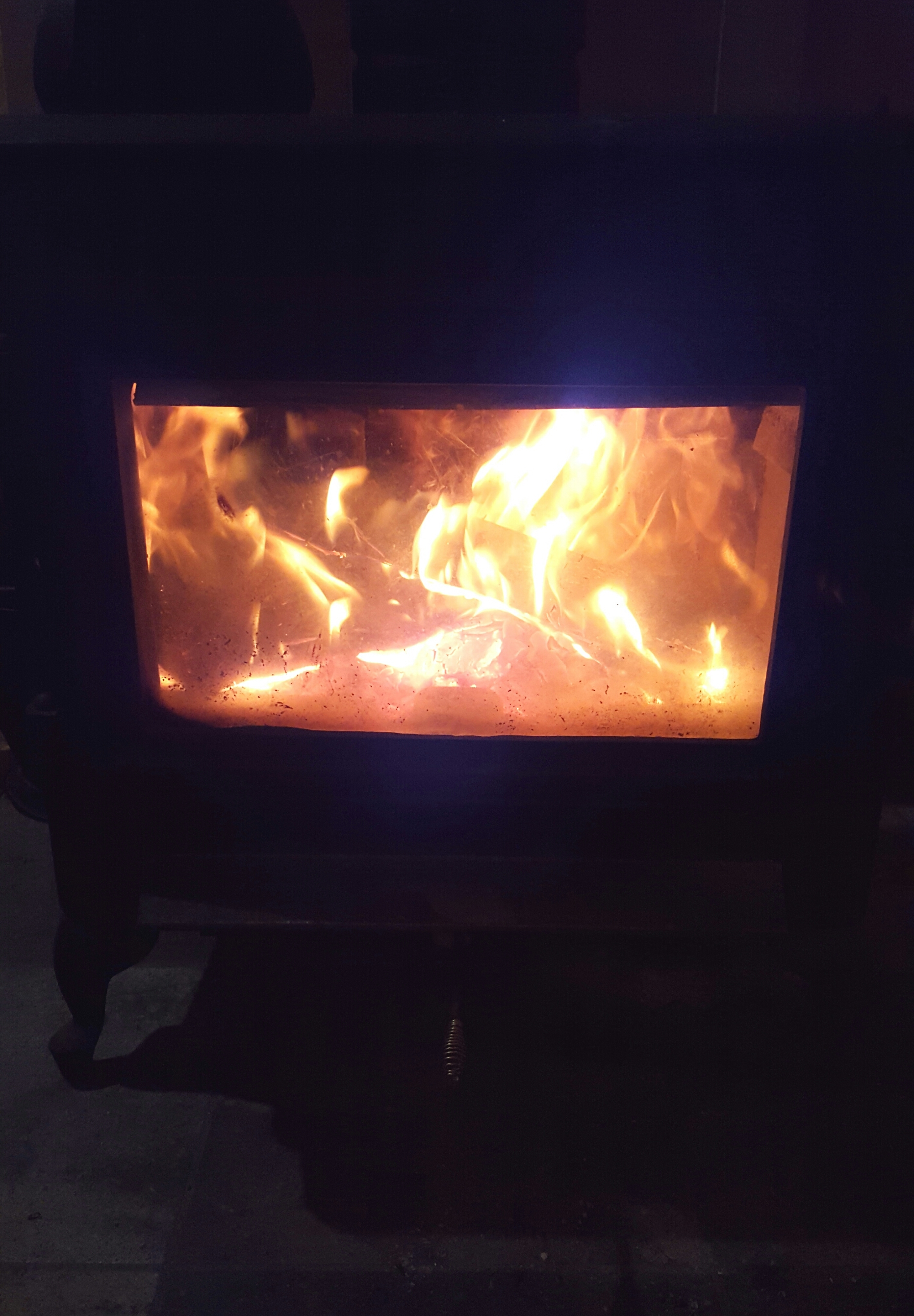 wood stove fights off the cold
