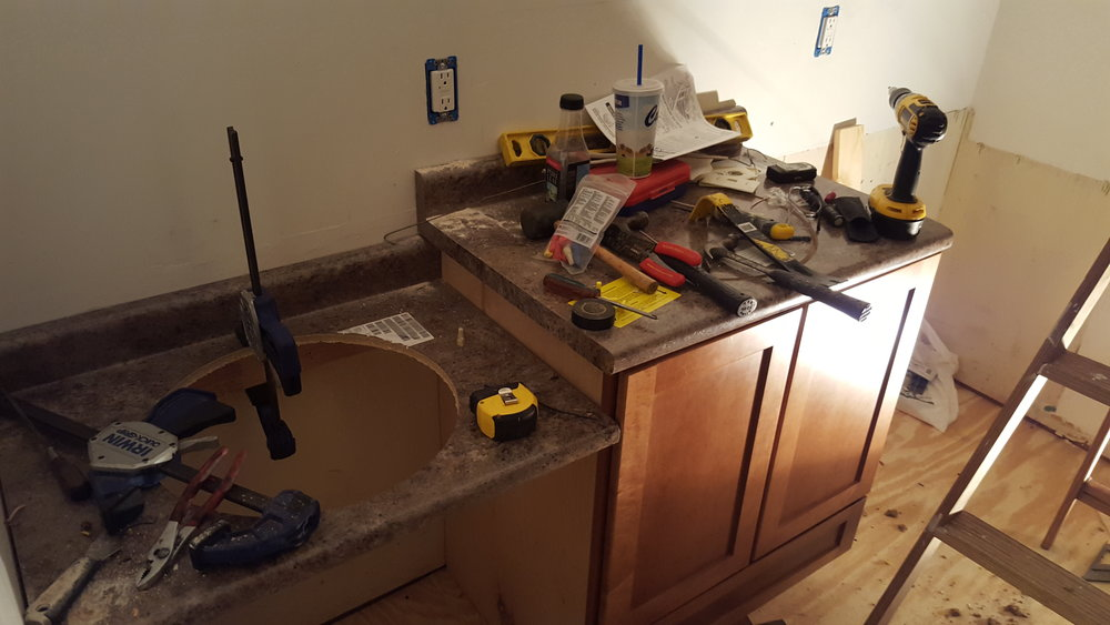 diy bathroom remodel - messy hubby