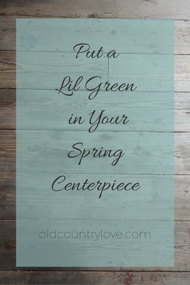 Put a Lil Green in Your Spring Centerpiece