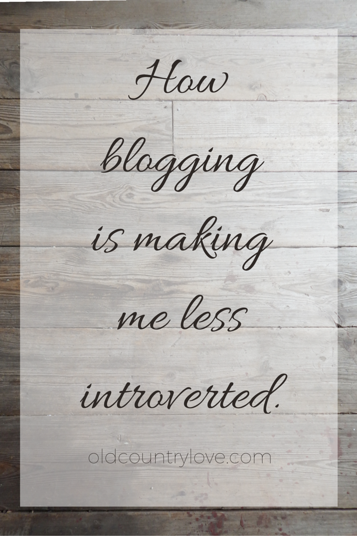 how blogging is making me less introverted