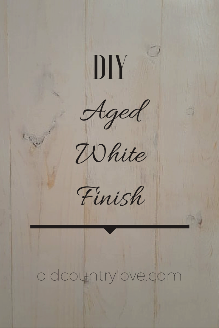 Pin me for diy aged white finish!