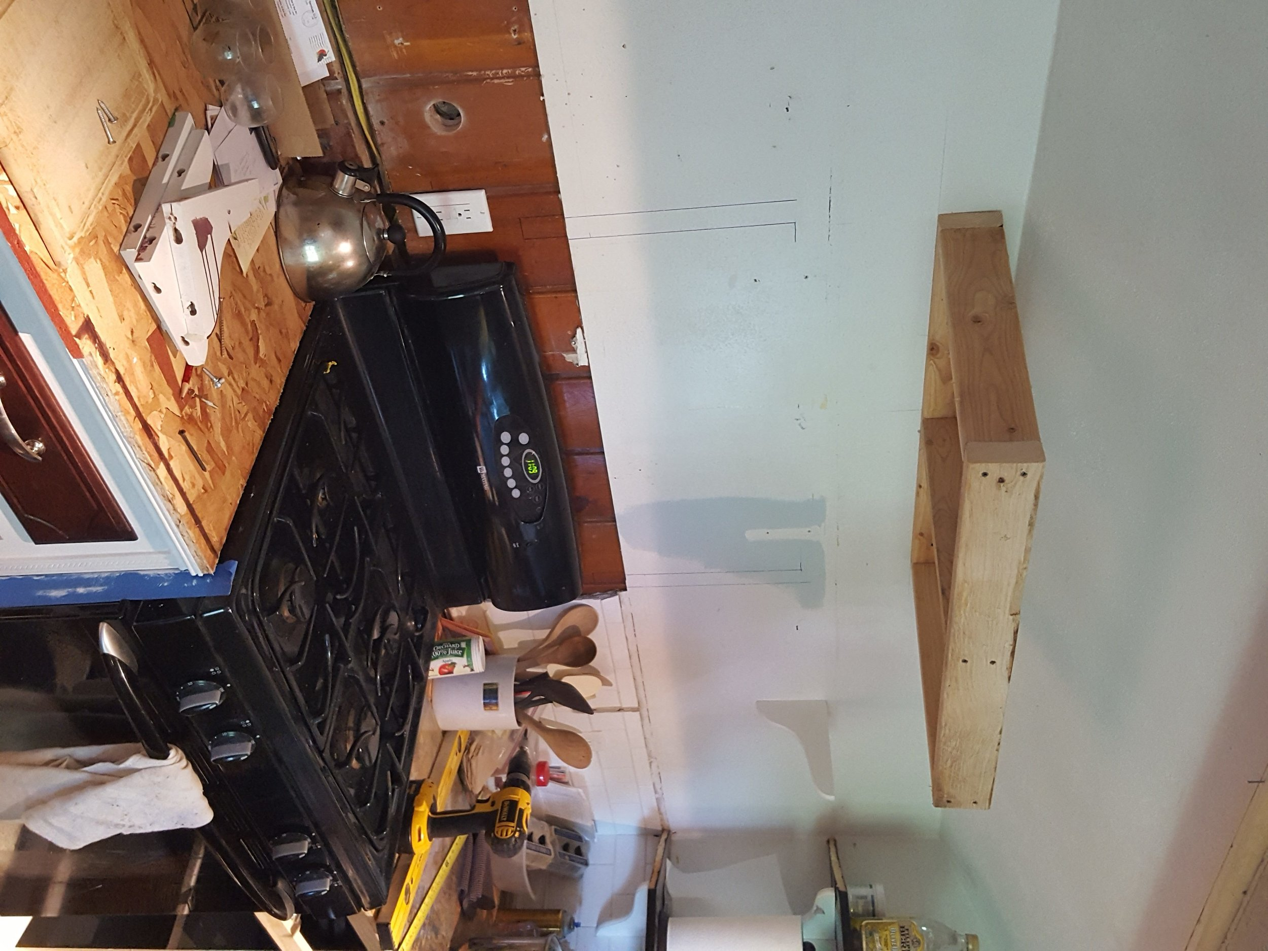 Support frame for the new stove hood