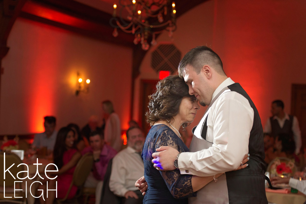 Groom dances with his mother at Silver Creek country club
