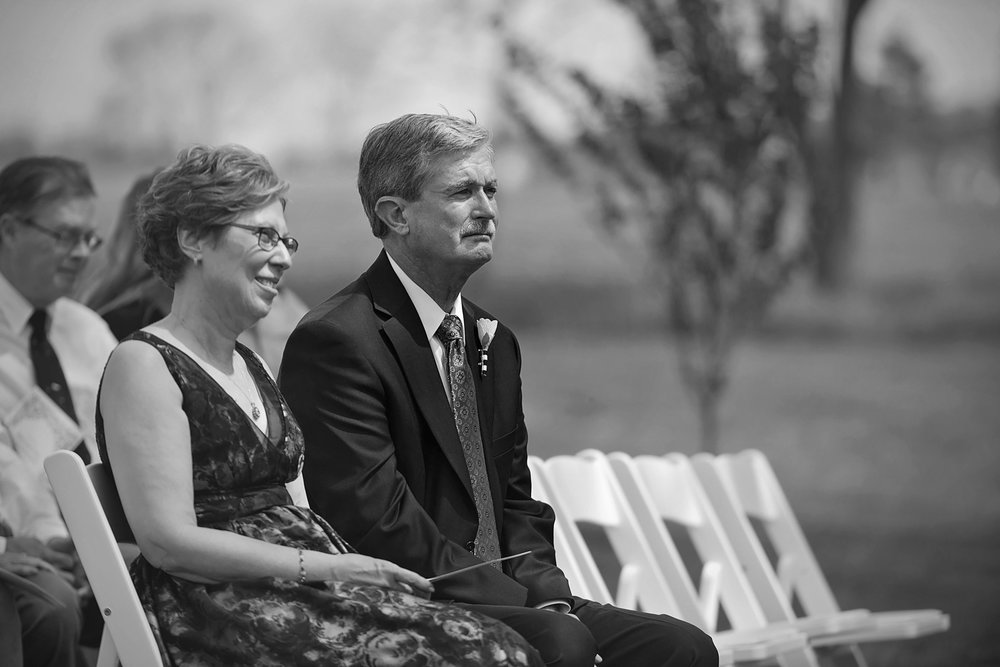 dad chokes back tears watching daughter get married