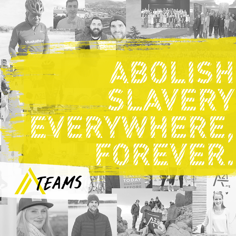 a21 ATeam Partner - Mission: Abolish slavery everywhere, forever.