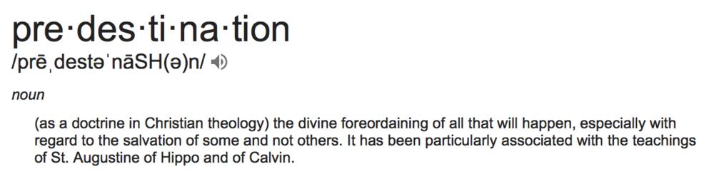 Predestination Definition