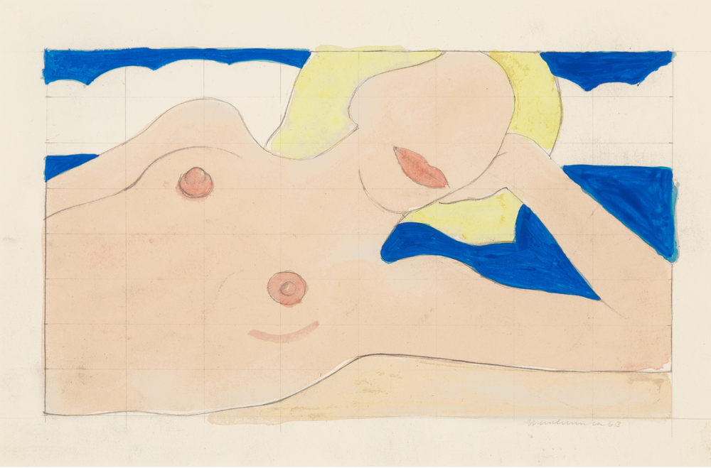 Study For Proposed Seascape Reclining Nude, 1963