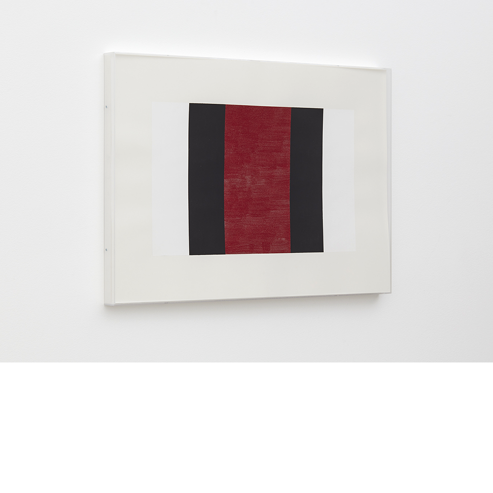 Untitled (White, Black, Red), 2001