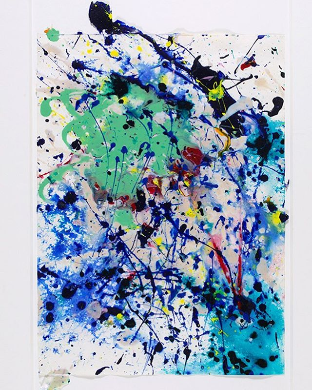 Available now. DM for more info! #samfrancis #1990s #acryliconpaper #abstractart #abstractexpressionism #art