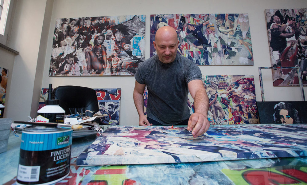 Marco Innocenti - Brivido Pop nel suo studio a Via Giulia a Roma