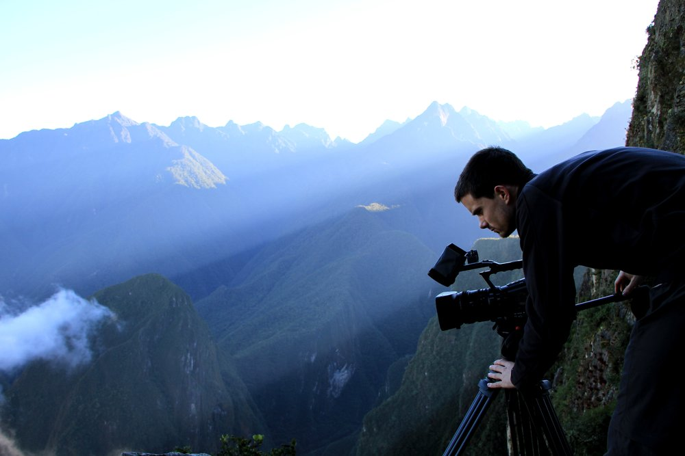 Mark Challender TV Producer & Director shooting on location in Peru