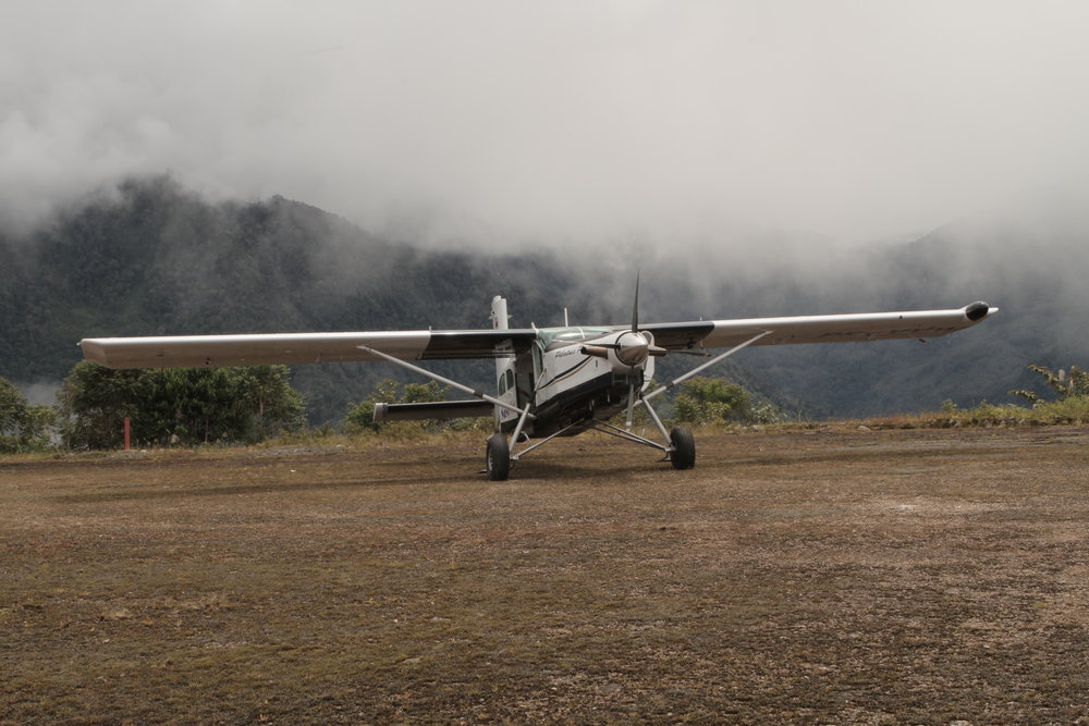 One of the Pilatus Porter (STOL) planes we filmed with.