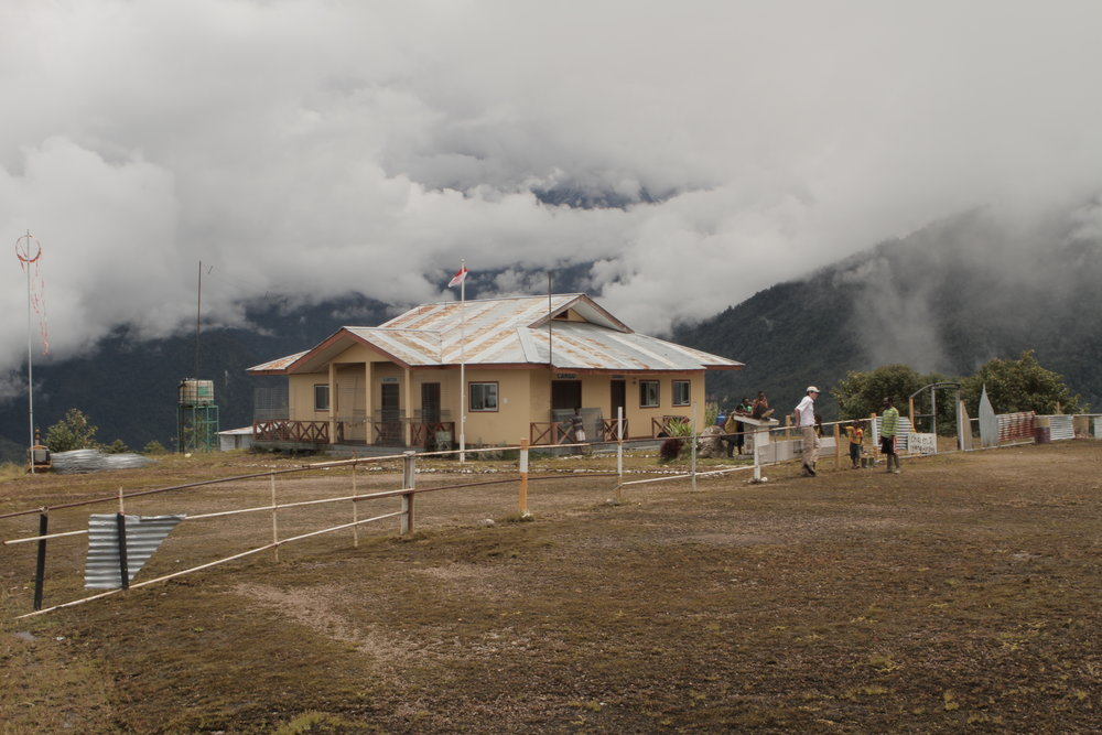 An airport in the clouds, in West Papua.