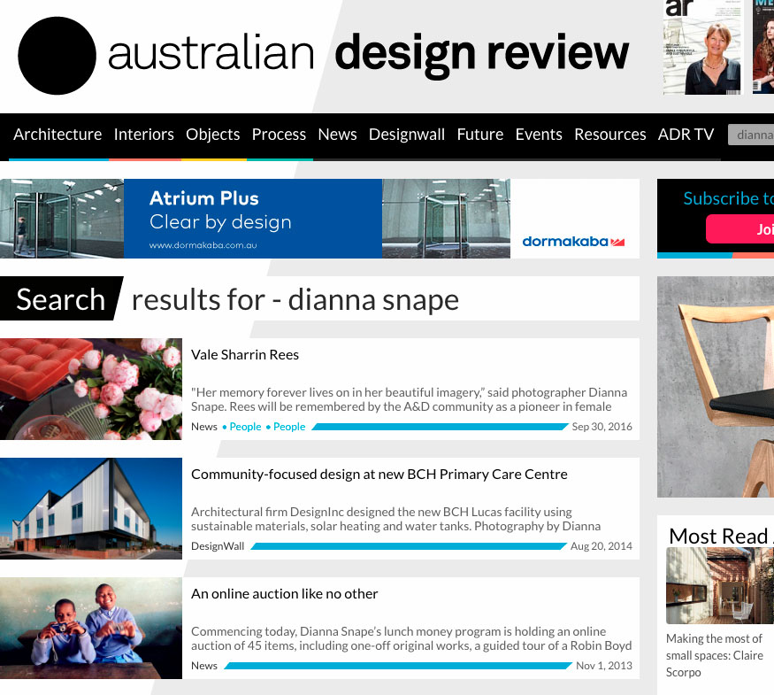 Australian Design Review - Australian design review is the country's leading online resource for architects and interior designers.