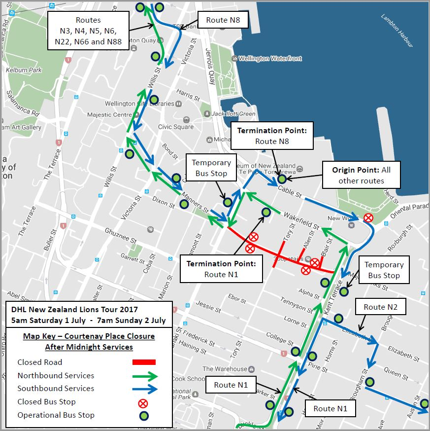 After Midnight bus routes - Sunday 2 July