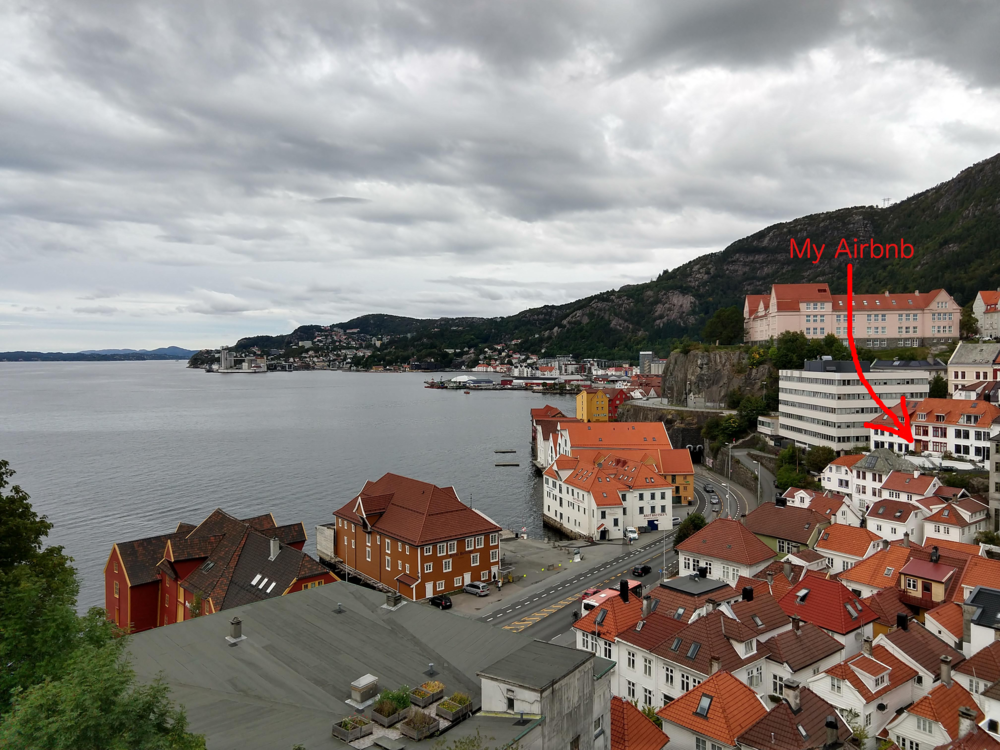 View from an old Bergen fort