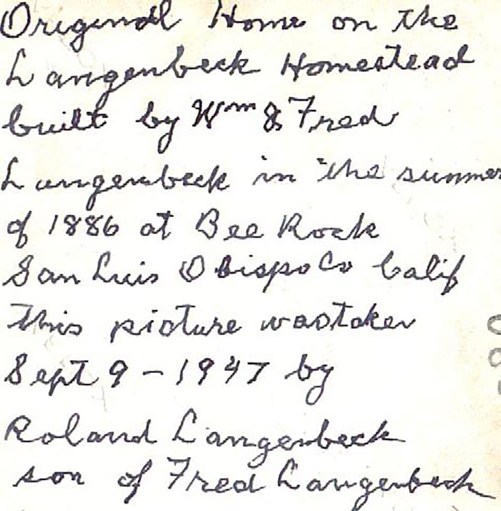 1947 Written note on adobe pic.jpg
