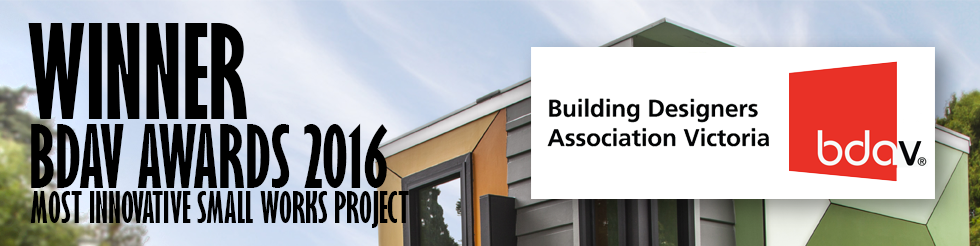 Archsign won the BDAV Award for 'Most Innovative Small Works Project'at the 2016 Building Designers Association of Victoria Awards.https://www.bdav.org.au/2016-awards/33/default