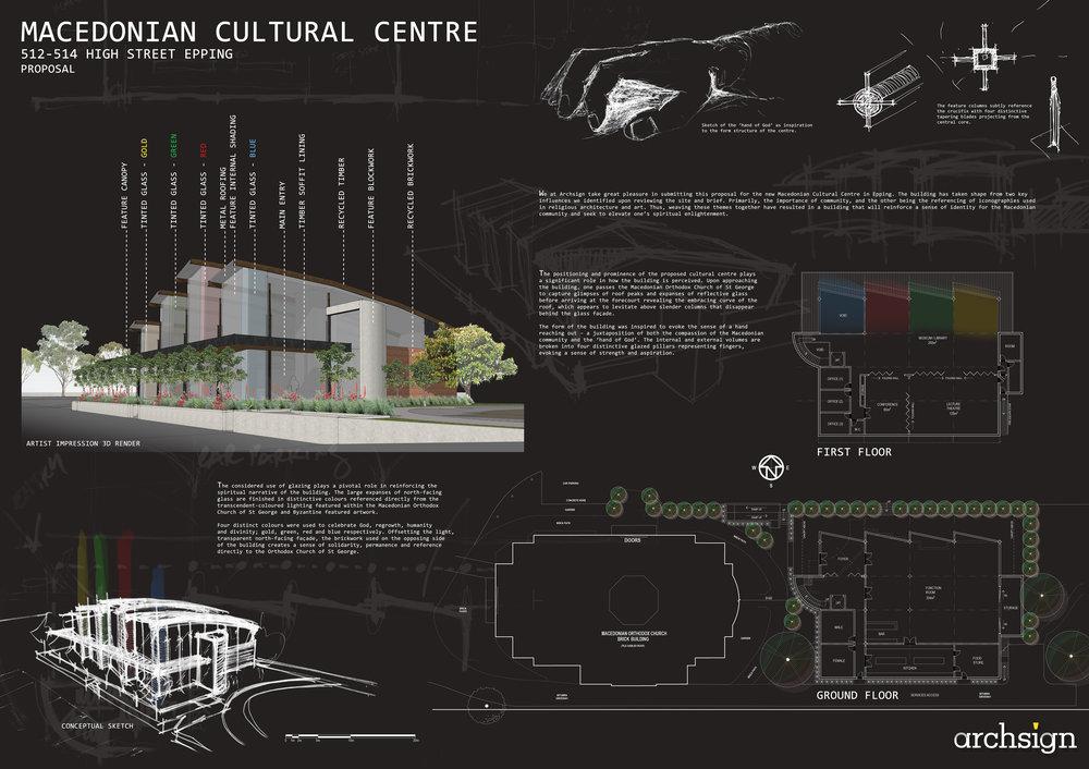 Design Proposal - Macedonian Cultural Center.