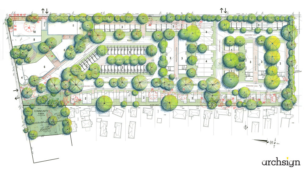 Conceptual Master Plan - Housing Estate.