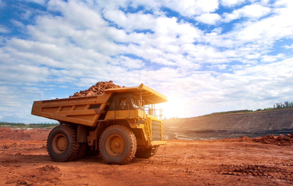 mining truck against a blue sky.jpg