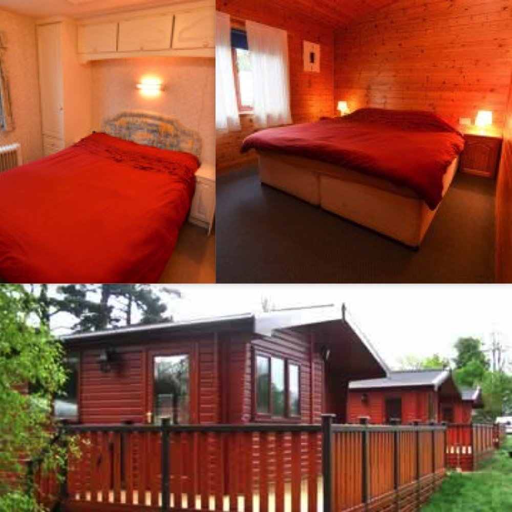 Cabins & Mobile Homes - There are a number of rooms in pine cabins and mobile homes, each dwelling has a max of 6 people. They have shared kitchen areas. Some rooms are ensuite. Prices start at £72 for the weekend for a small double in a mobile home. These places are limited