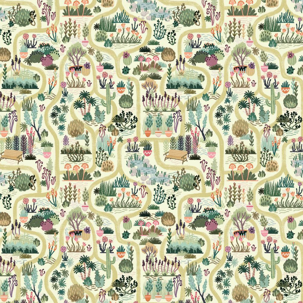 Allie Doersch Botanical Garden Pattern Repeat