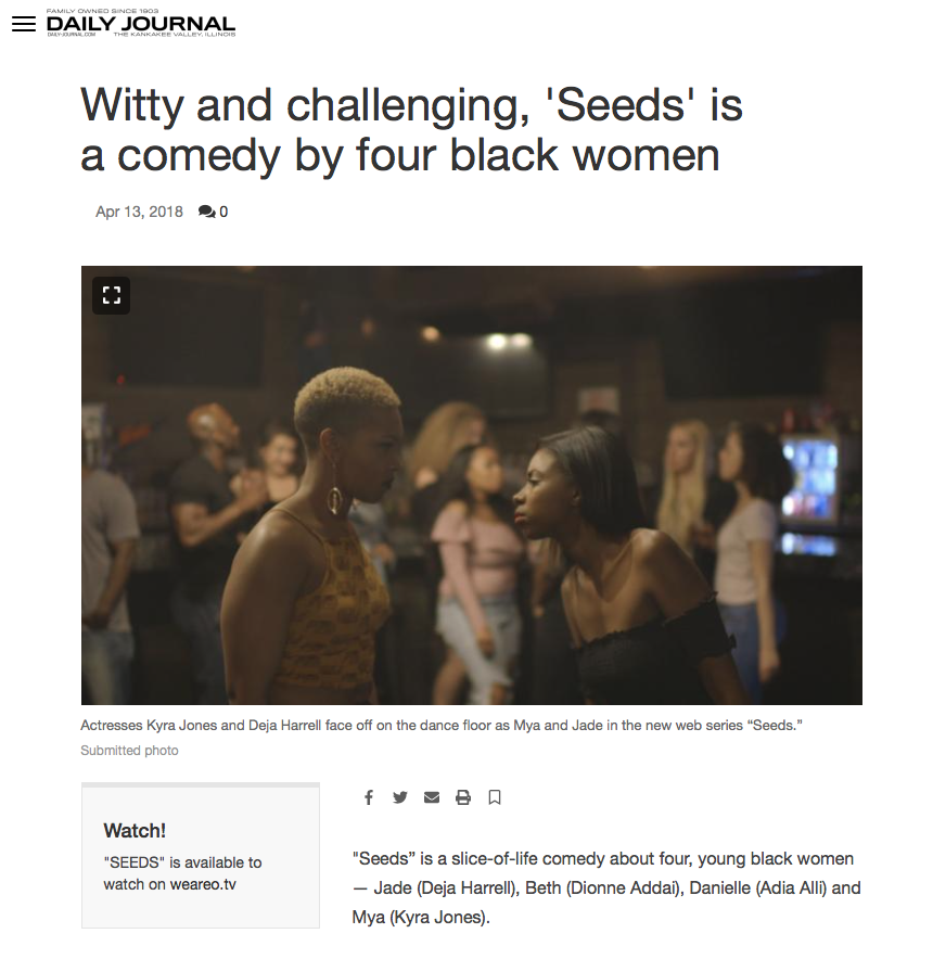 DAILY JOURNAL - Witty and challenging, 'Seeds' is a comedy by four black women