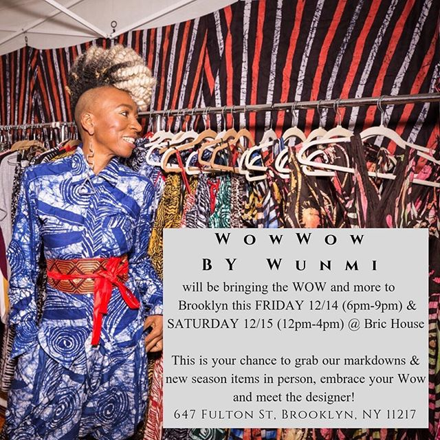 We have a Wow wow treat! ⁣ 🍭🎄🍭🎄🍭🎄🍭🎄🍭🎄🍭⁣ As apart of making Wow Wow accessible to everyone, we'll be in Brooklyn this week @bricbrooklyn !! ⁣ ⁣ We Can't wait to share Space, Time & Holiday cheer with you in hopes that you bring in the New Year wearing Wow Wow. ⁣ ⁣ Like if we'll see you there 😋 #PopUpShop #brickhouse