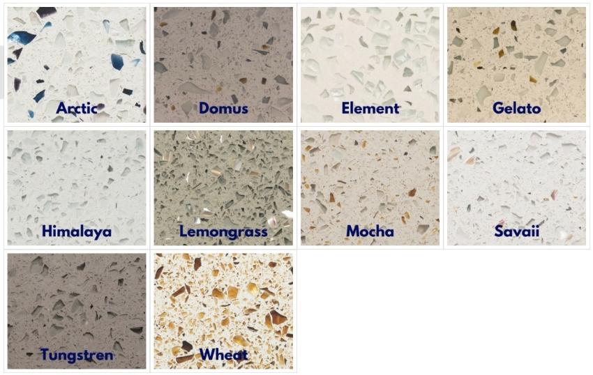 Curava  Recycled Glass Surfaces from  Keystone Granite