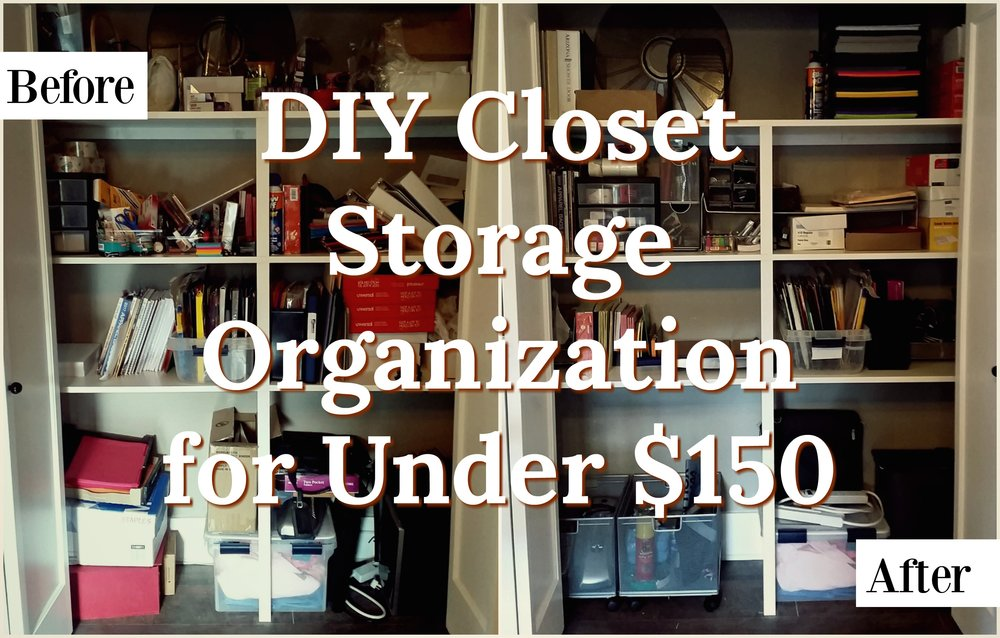 "DIY Storage Closet Organization for Under $150 - American financial journalist and author Jean Chatzky said,""Every minute you spend looking through clutter, wondering where you put this or that, being unable to focus because you're not organized costs you: time you could have spent with family or friends, time you could have been productive around the house, time you could have been making money.""She's absolutely right. A cluttered space is a cluttered mind is a cluttered life.We've been extremely busy here at the office lately. When work (or life) gets busy, it's vital to have an organized environment to keep things running smoothly. In an effort to continue to organize the office more efficiently, last week... READ MORE"
