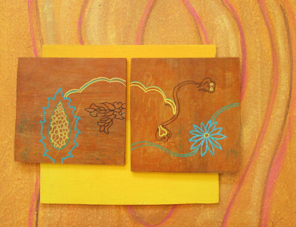 acyrlic on wood panel